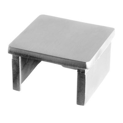 Q-Railing - Flat end cap for cap rail, square, 40x40x1.5 mm, stainless steel 316 exterior, satin [PK2]