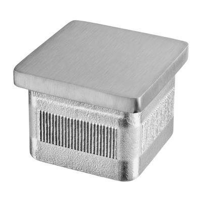 Q-Railing - Flat end cap, Square Line, Easy Hit, tube 40x40x2 mm, stainless steel 316 exterior, satin [PK2]