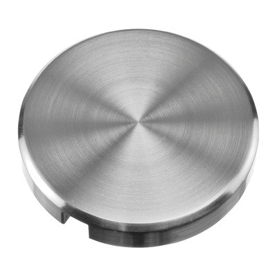 Q-Railing - End cap for base flange, for stair case, round, 60 mm, M12 thread, stainless steel 304 interior, satin [PK2]- [13073106012]