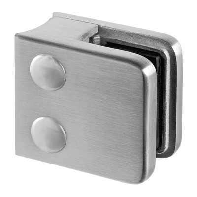 Q-Railing - Glass clamp, MOD 21, excl. rubber inlay, tube Dia 42.4 mm, stainless steel 304 interior, satin [PK4]