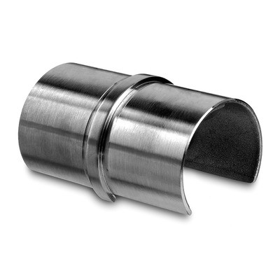 Q-Railing - Tube connector, cap rail, Dia 48.3x1.5 mm, stainless steel 316 exterior, satin [PK2]