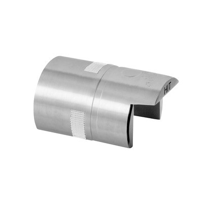 Q-Railing - Tube connector, Easy Hit, cap rail, Dia 42.4x1.5 mm, st. steel 304 interior, untreated [PK2]