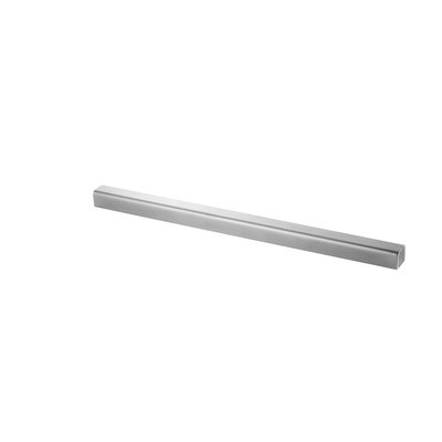 Q-Railing - Straight end, for U-profile, 30 x 27 x 3 mm, U=24 x 24 mm, L=500 mm, stainless steel 316 exterior, satin