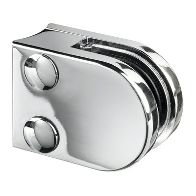 Q-Railing - Glass clamp, MOD 20, excl. rubber inlay, tube Dia 33.7 mm, zamak, chrome plated [PK4]