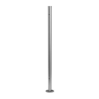 Q-Railing - Baluster post, Dia 42.4 mm x 2 mm, M8 two-sided 90 degree, glass clamp, horiz., H=989mm, st. steel 316 exterior, satin - [14096424212]