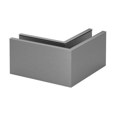 Q-Railing - Base shoe corner, Easy Glass Prime, top mount,inner & outer corner, aluminium, mill finish