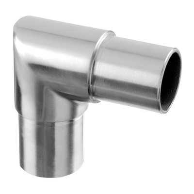 Q-Railing - Flush elbow, 90 degree, angular, tube Dia 48.3 mm x 2 mm, stainless steel 316 exterior, satin [PK2]