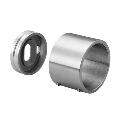 Q-Railing - Wall flange with blind connection, tube Dia 33.7 mm, stainless steel 304 interior, satin [PK2]- [13050403312]