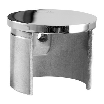Q-Railing - Flat end cap for cap rail, Dia 42.4 mm x 1.5 mm, stainless steel 304 interior, polished [PK2]