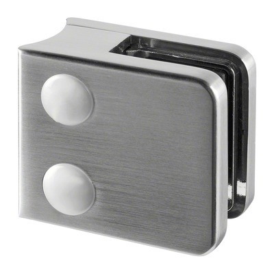 Q-Railing - Glass clamp, MOD 21, excl. rubber inlay, tube Dia 42.4 mm, zamak, stainless steel effect [PK4]- [10210004219]