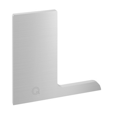 Q-Railing - End cap, Easy Glass Pro F, top mount, right, aluminium, stainless steel effect, anodized - [16673500918] 168122-02-18