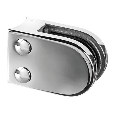 Q-Railing - Glass clamp, MOD 22, excl. rubber inlay, tube Dia 42.4 mm, stainless steel 316 exterior, polished [PK4]