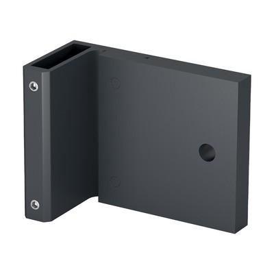 Q-Railing - Corner bracket for post profile, Easy Alu,fascia mount, 120x70mm, aluminium, anthracite grey
