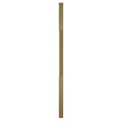 Richard Burbidge WOSCF110 Trademark White Oak Stop Chamfer Flute Baluster 41x1100mm