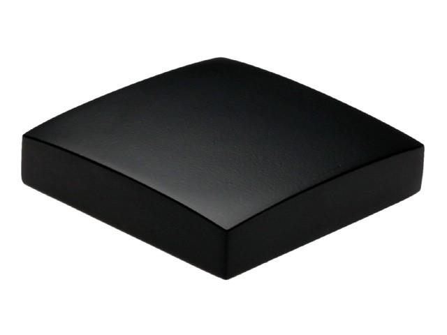 Flat Metal Newel Cap - Black