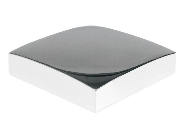 Flat Metal Newel Cap - Chrome