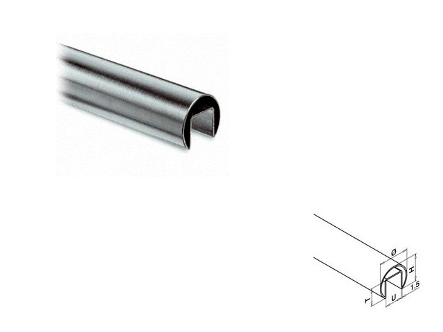 Easy Glass System Stainless Steel - Handrail Length250mm