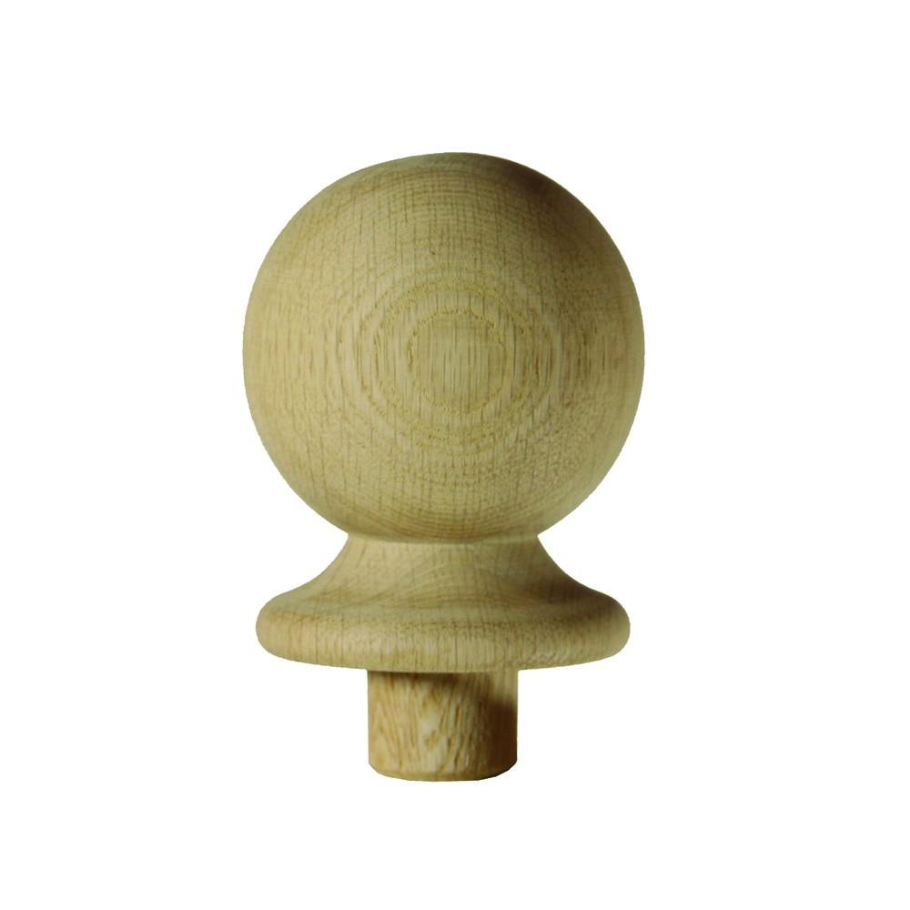 Trademark White Oak Newel Cap - Ball