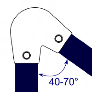 Interclamp 123-B34 - Variable Elbow (40 - 70 degree)