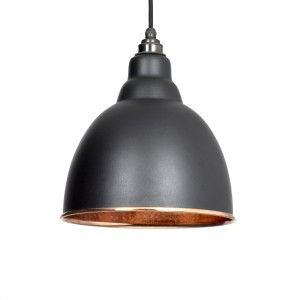 From the Anvil - Black Hammered Copper Brindley Pendant 49500B