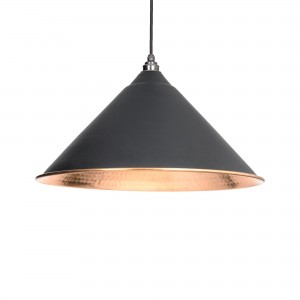 From the Anvil - Black Hammered Copper Hockley Pendant 49503B