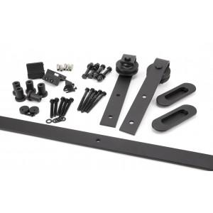 From the Anvil - 100kg Black Sliding Door Hardware Kit (2m Track) 91793