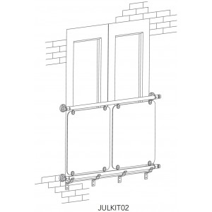 Richard Burbidge JULKIT01 Fusion Commercial Oversized Glass Juliette Balcony Kit 970-1110mm