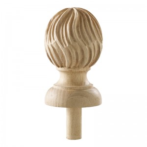 HAND-CARVED LARGE GOTHIC BEECH FINIAL ATCAFI18B