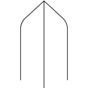Bishop Hat - 90 x 90 PSTSC Stop Chamfered Newel Post Square [Design 9]
