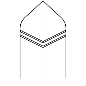 Bishop Hat with Double Kerf - 90 x 90 PSTSC Stop Chamfered Newel Post [DESIGN 13]