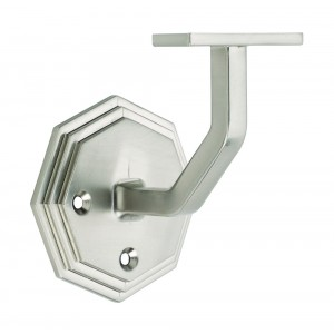 Richard Burbidge BNOWB Handrail Wall Bracket - Octagonal - Brushed Nickel