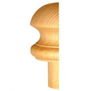 Half Staircase Newel Cap - Half Mushroom Cap