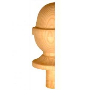 Half Staircase Newel Cap - Half Acorn