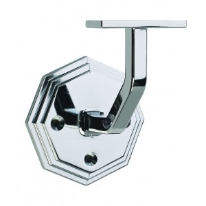 Richard Burbidge COWB Handrail Wall Bracket -Octagonal - Chrome