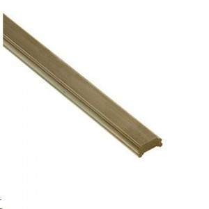 Cheshire Mouldings DHNEW24 Core Deck Pine Universal Rail 2395x75x38mm