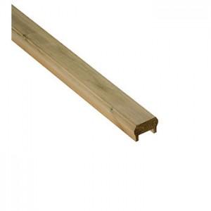 Cheshire Mouldings DHU24 Core Deck Pine Universal Rail inc. Fillet 2395x68x44mm