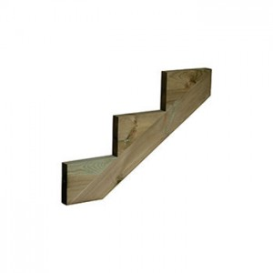 Cheshire Mouldings DS3 Treated Pine Decking 3 Tread String 872x250x48mm