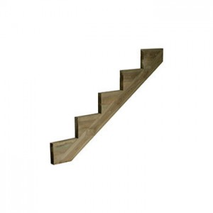 Cheshire Mouldings DS5 Treated Pine Decking 5 Tread String 1455x250x48mm
