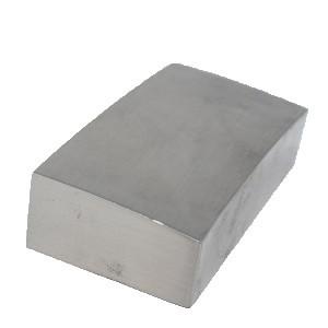 Unique Square Half Newel Cap Brushed Nickel 90 x 45mm