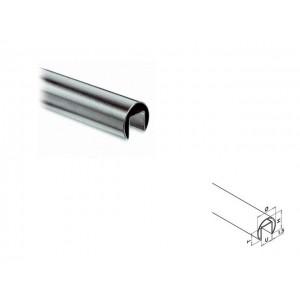 Q-Railing - Cap rail, Dia 42.4 mm x 1.5 mm, L=2500 mm, U=24 mm x 24 mm, stainless steel 304 interior, satin - [13692504212]