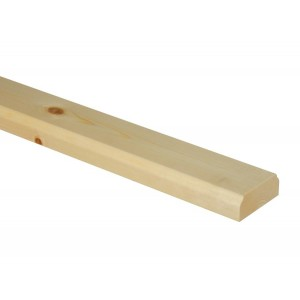 Richard Burbidge BR4200P Trademark Pine Ungrooved Baserail 4200mm