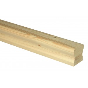 Richard Burbidge HDR3600P Trademark Pine Ungrooved Handrail 3600mm