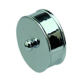 Richard Burbidge RHR02S Handrail Metal End Cap - Silver effect 54mm