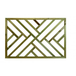 Richard Burbidge LD212 Traditional Outdoor Cross Hatch L Timber Panel