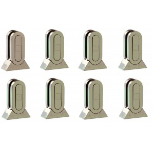 Richard Burbidge MMGPB8 Fusion Brushed Nickel Glass Panel Bracket (pack of 8)