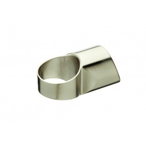 Richard Burbidge MMHLB Fusion Brushed Nickel Half Landing Connector