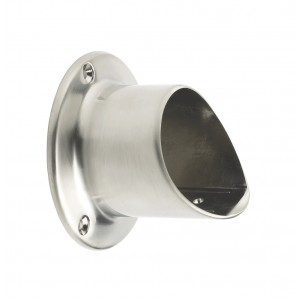Fusion Brushed Nickel Flanged Handrail wall bracket for landings
