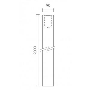 Richard Burbidge NB2000/90 Trademark Hemlock Newel Base 90x2000mm