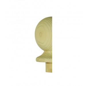 Richard Burbidge NC2/90PHALF Trademark Pine Newel Cap Ball Half 90mm