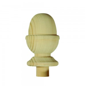Richard Burbidge NC3/90 Trademark Hemlock Newel Cap Acorn 90mm